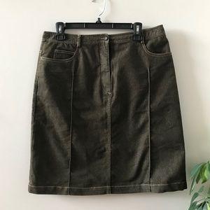 Olive Green Jeans Skirt